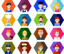 peoples_careers_icons_various_colored_types_hexagon_isolation_6826946