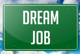 Dream Job on Green Highway Signpost.